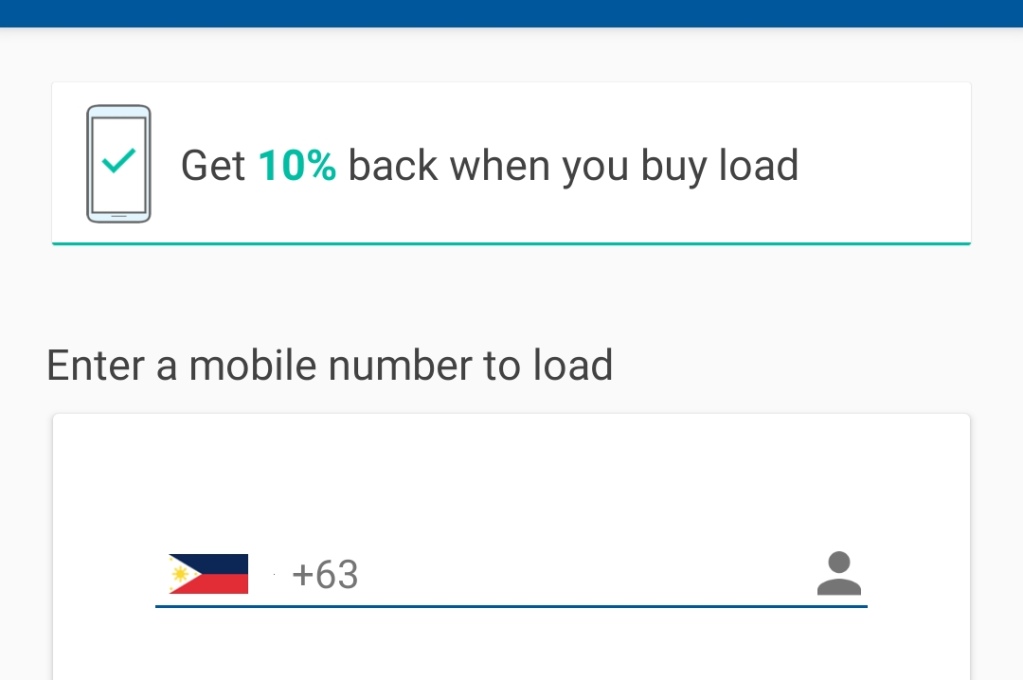 Coins.ph enter your mobile phone number for users to know what to do next after tapping the buy load icon
