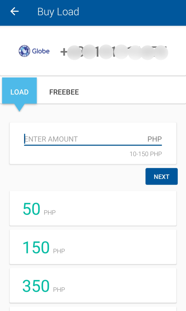 Enter e-load amount you want to purchase for coins.ph app and enjoy the airtime you get
