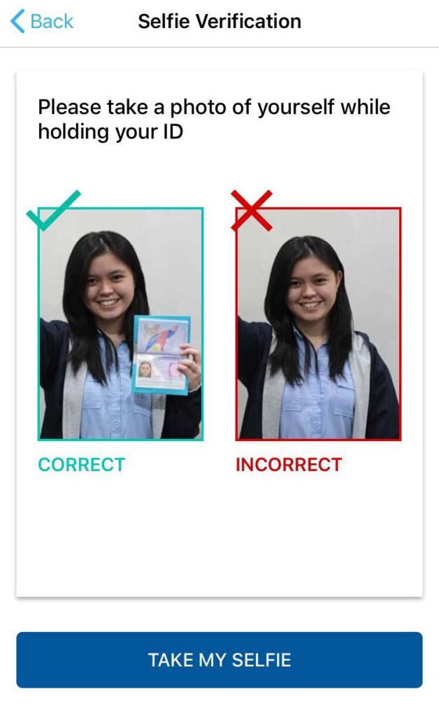 level 2 verification selfie for coins.ph