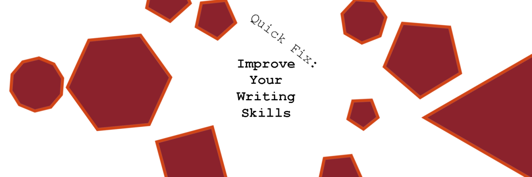 Featured image showing Text how to improve your writing skills with polygons